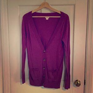 Merona Purple / Pink Cardigan